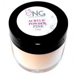 NG Akryl Puder - Pink (Transparant) 23gg