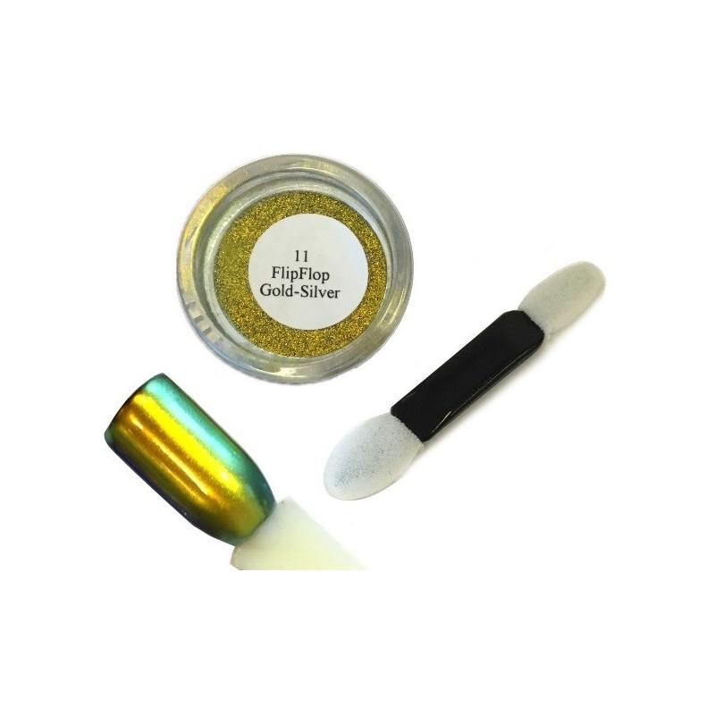 11 Gold Silver - FlipFlop Mirror Powder 1gr