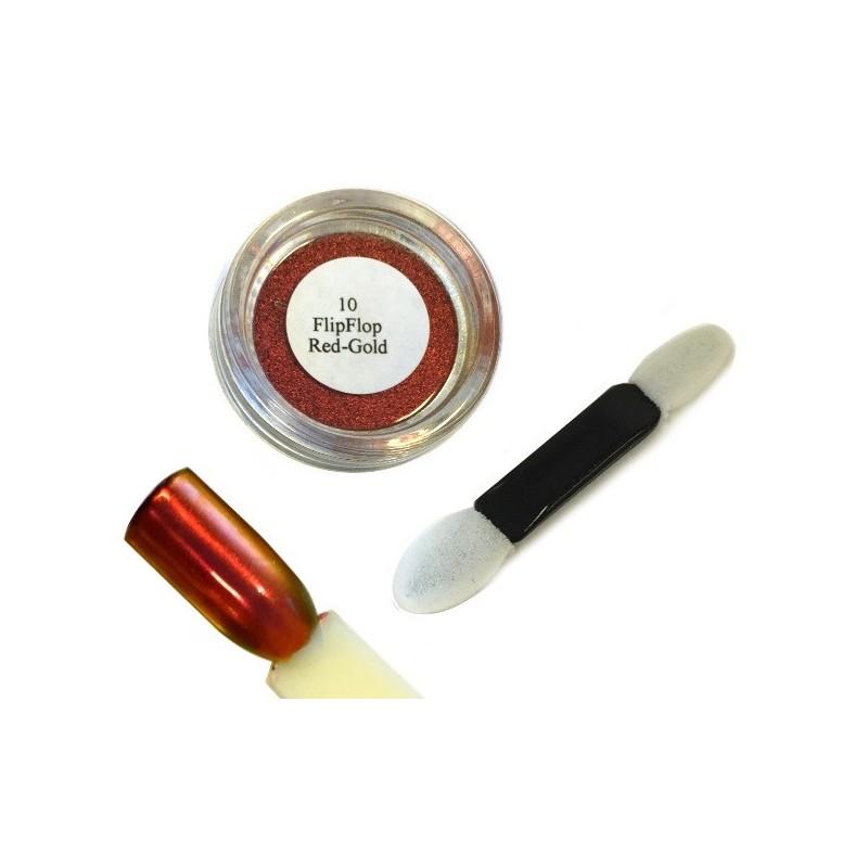 10 Red Gold - FlipFlop Mirror Powder 1gr