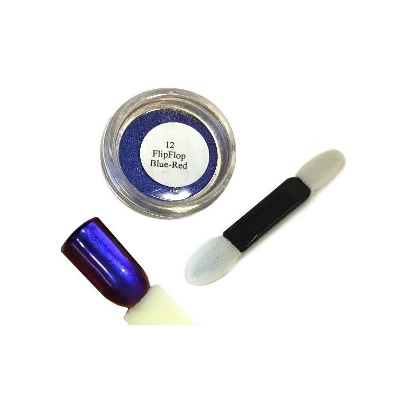 12 Blue Red - FlipFlop Mirror Powder 1gr