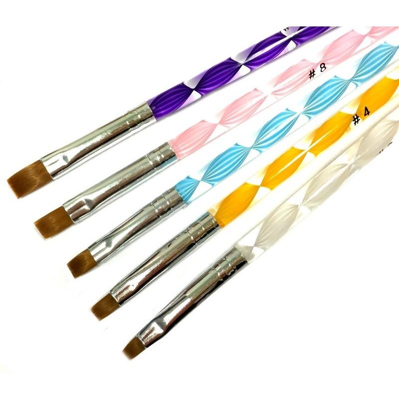 Spiral Gel Brush Kit 5psc. nr.2,4,6,8,10