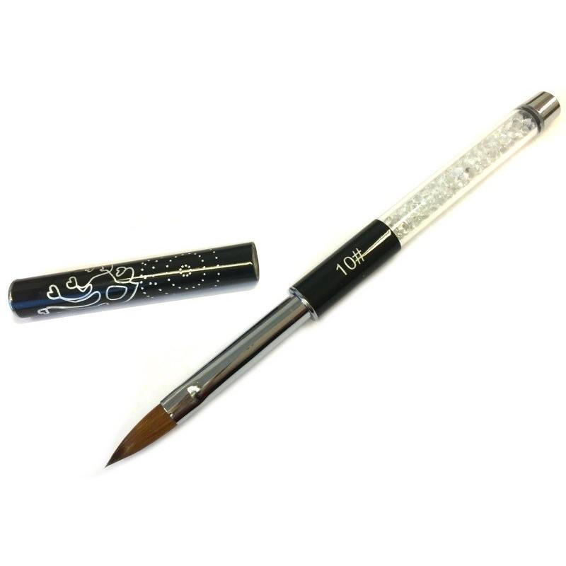 Crystal Black Acrylic Brush nr.10