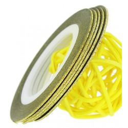 Striping Tape Glitter Gold 1st.(ca 1mm bred)