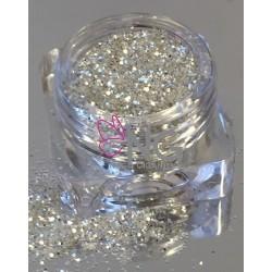 Silver-White Glitter 1.5mm (RNAG-18)