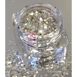 Silver-White Glitter 2mm (RNAG-19)