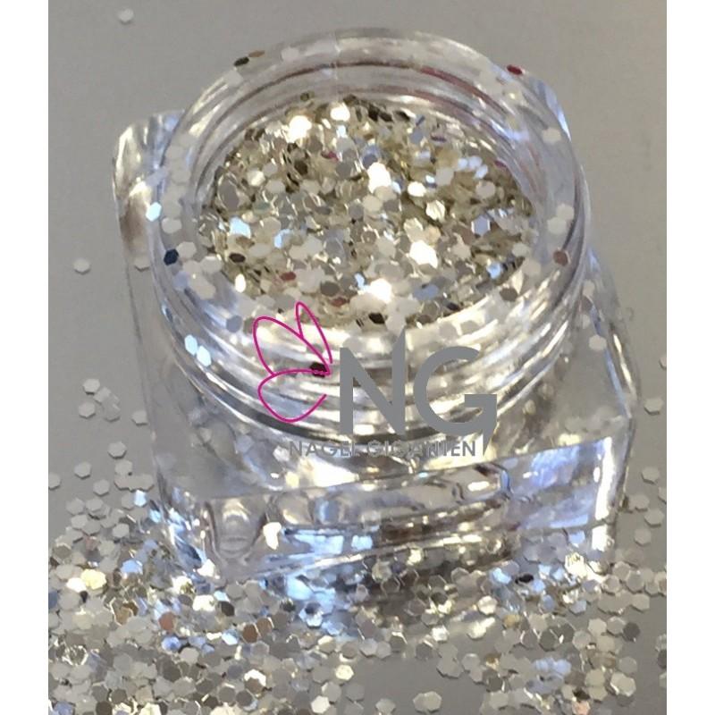 Silver-White Glitter 2mm
