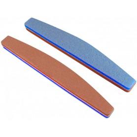 180/240 - Crescent Orange/Blue Sponge file