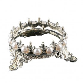 Crown Brush Holder Silver