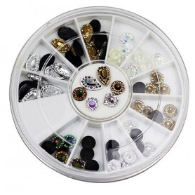 3D Nail Art Deco in Wheel - 138
