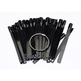 FAN Nail Art Display - 50 sticks Black