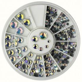 Rhinestones Crystal AB in Wheel(244)