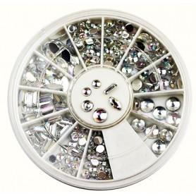 Rhinestones Mixed Crystal AB in Wheel(200)