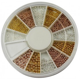 Pearls Assorted colors in wheel