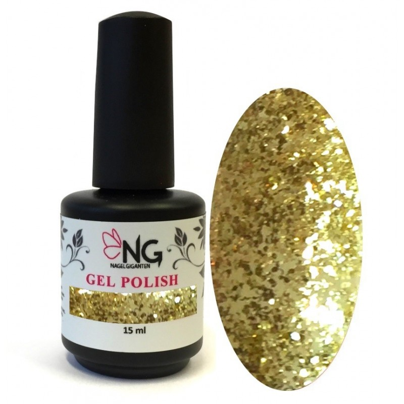 796 Glitter Gold - NG LED/UV Soak Off Gel Polish 15ml