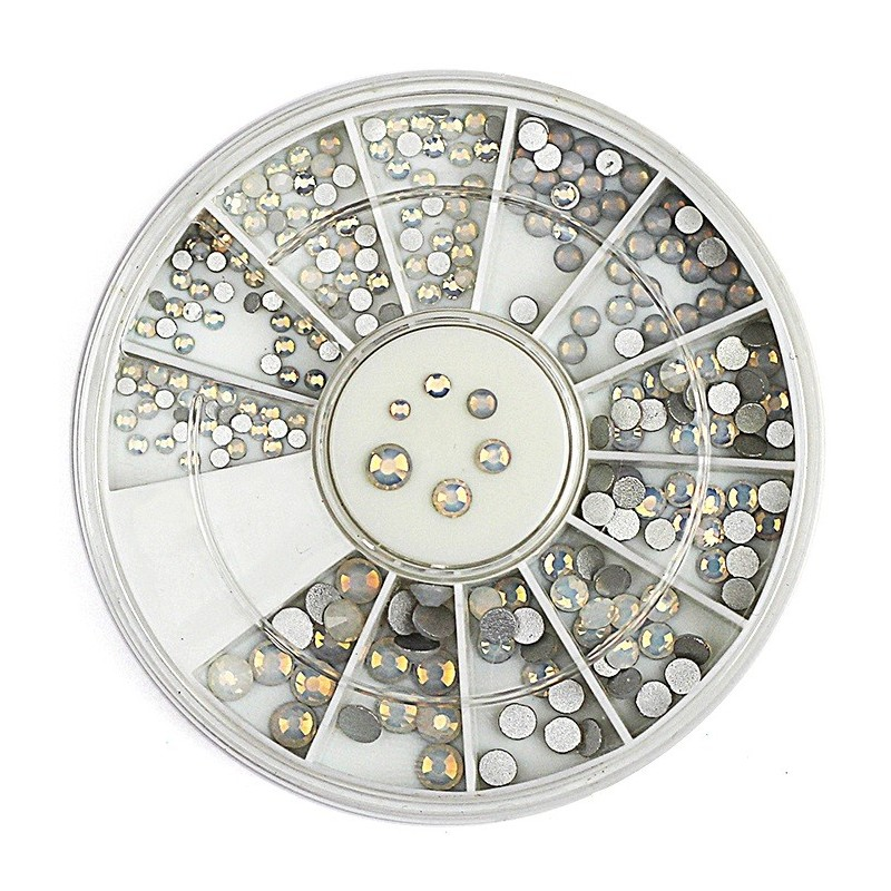Rhinestones White Opal in Wheel(236)
