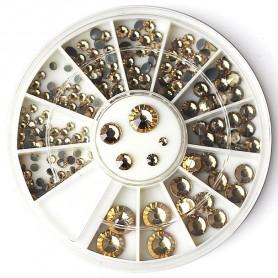 Rhinestones Creme in Wheel(243)