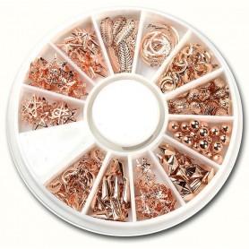 Metallic Nail Deco Rose-Gold - 117