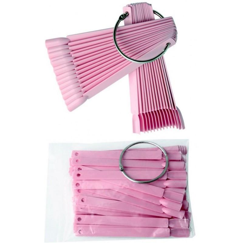 FAN Nail Art Display - 50 sticks Pink