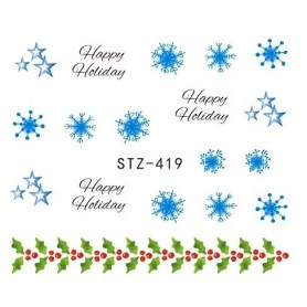 Water Tattoo Snowflakes - 419