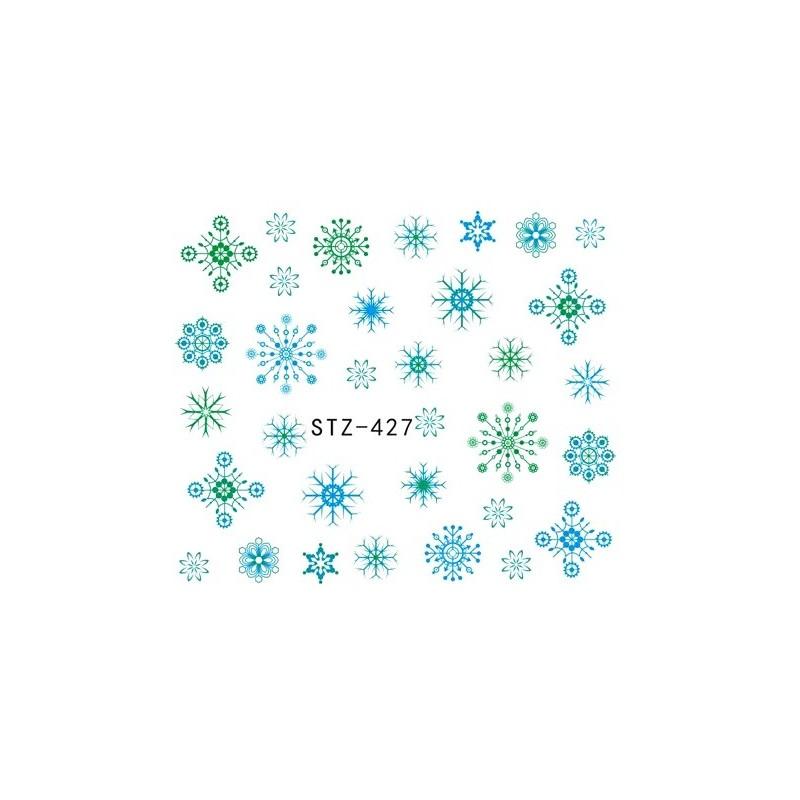 Water Tattoo Snowflakes - 427