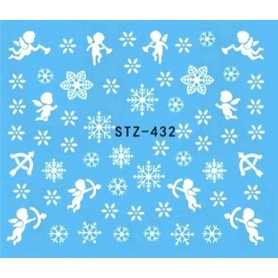 Water Tattoo Snowflakes - 432