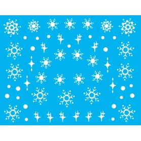 Water Tattoo Snowflakes - 077