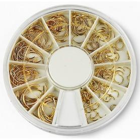 Metallic Lunula Nail Deco Gold - D120
