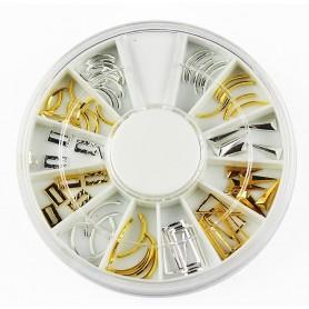 Metallic Lunula Nail Deco Gold - D121