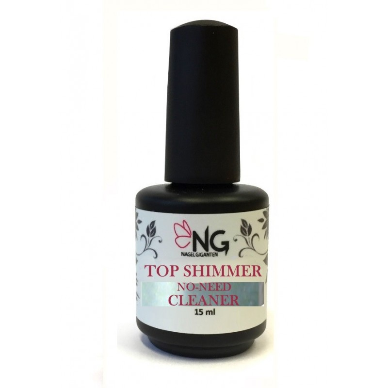NG LED/UV Top Shimmer No-Need-Cleaner Gel 15ml