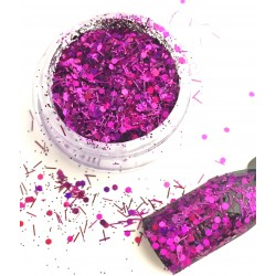 Glamour Mix Glitter in 3ml. jars - nr.22