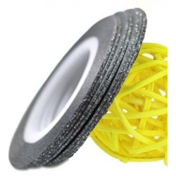 Striping Tape Glitter Black 1st.(ca 1mm bred)