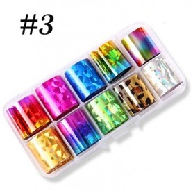 3 - Nail Art Foil Kit 10 designs