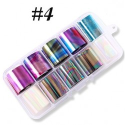 4 - Nail Art Foil Kit 10 designs