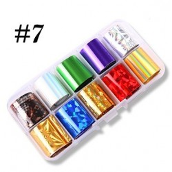 7 - Nail Art Foil Kit 10 designs