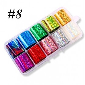 8 - Nail Art Foil Kit 10 designs