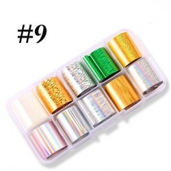 9 - Nail Art Foil Kit 10 designs