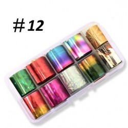 12 - Nail Art Foil Kit 10 designs