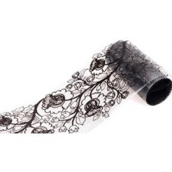 204 Black Lace - Nail Art Foil Roll
