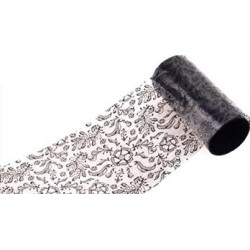 205 Black Lace - Nail Art Foil Roll