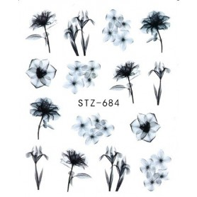 Water Tattoo Floral - 684