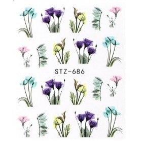 Water Tattoo Floral - 686