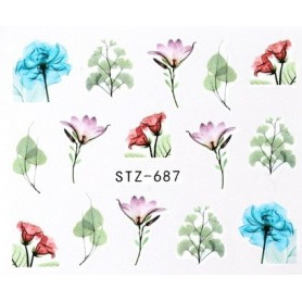 Water Tattoo Floral - 687