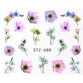 Water Tattoo Floral - 688