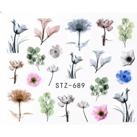 Water Tattoo Floral - 689