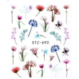 Water Tattoo Floral - 690