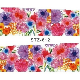 Water Tattoo Floral - 612