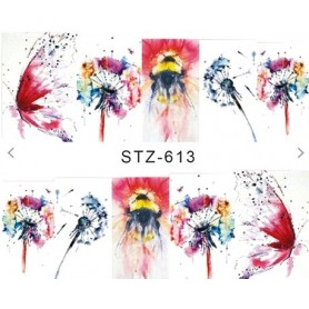 Water Tattoo Floral - 613