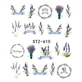 Water Tattoo Floral - 615