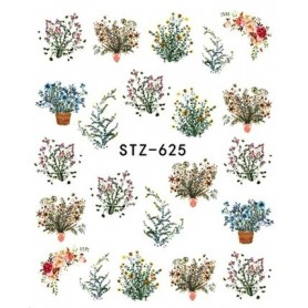 Water Tattoo Floral - 625