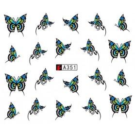 Water Tattoo Butterflies - 351